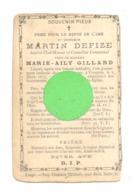 Faire-part De Décès De M. Martin DEFIZE , Chef Mineur Et Conseiller Communal - VIVEGNIS 1875 - Vf De Marie Gillard (b242 - Obituary Notices