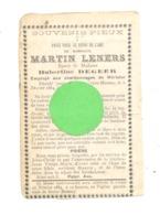 Faire-part De Décès De M. Martin LENNERS Employé Aux Charbonnages De Wérister - BEYNE-HEUSAY 1884 (b242 - Obituary Notices