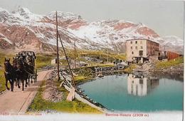 BERNINA-HOSPIZ → Postkutsche Bereit Zur Talfahrt, Ca.1920 - GR Grisons