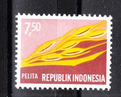 Indonesia - 1969. Spighe Di Grano E Seta Per Tessuti. Wheat Ears And Silk For Fabrics. MNH - Agriculture