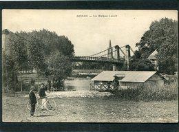 CPA - BORAN - Le Bateau Lavoir, Animé - Boran-sur-Oise
