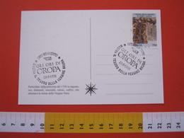 A.02 ITALIA ANNULLO - 1996 BIELLA MOSTRA IL TESORO DELLA VERGINE BRUNA OROPA MADONNA MARIA GOLD ORO ORI LILT TUMORI - Cristianesimo