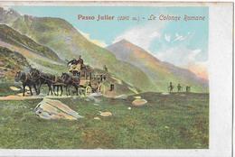 PASSO JULIER → Le Colonne Romane, Sehr Seltene & Alte Karte Ca.1895 - GR Grisons