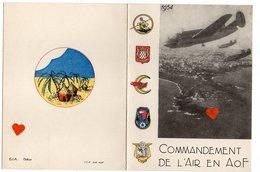 35216-ZE-COMMANDEMENT DE L'AIR EN A.O.F.-----------avions - Postcards
