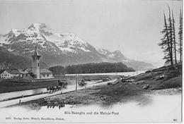 SILS - BASEGLIA → Maloja-Post In Rasanter Fahrt Bei Der Kirche, Ca.1900 - GR Grisons