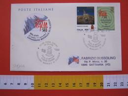 A.02 ITALIA ANNULLO - 1998 SIENA RARO ITALIA '98 ESPOSIZIONE MONDIALE EXPO FDC ESERCITO ITALIANO - Militaria
