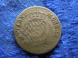 BAYERN 6 KREUZER 1807, KM686 - [ 1] …-1871 : German States