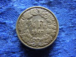 SWITZERLAND 1/2 FRANC 1907, KM23 - Suisse