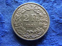 SWITZERLAND 2 FRANCS 1921, KM21 - Suisse