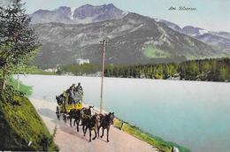 AM SILSERSEE → Maloja-Post Unterwegs An Der Uferstrasse, Ca.1920 - GR Grisons