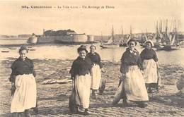 Concarneau - La Ville Close - Un Arrivage De Thons - Voiliers - Cecodi N'A 59 - Concarneau
