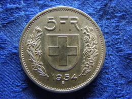SWITZERLAND 5 FRANCS 1954, KM40 - Suisse