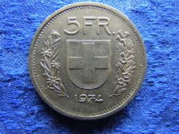 SWITZERLAND 5 FRANCS 1974, KM40a.1 - Suisse