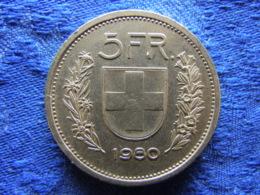 SWITZERLAND 5 FRANCS 1980, KM40a.1 - Suisse