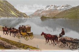 AM SILSERSEE → Maloja-Post Und Fuhrwerk Unterwegs An Der Uferstrasse, Ca.1920 - GR Grisons