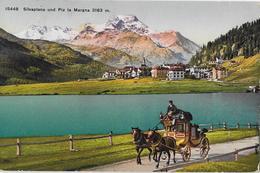AM SILSERSEE → Silvaplana Mit Maloja-Post An Der Uferstrasse Anno 1927 - GR Grisons