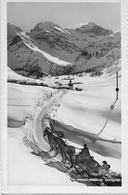 SERTIG DÖRFLI → Winteridylle Mit Pferdetaxi, Fotokarte Ca.1950 - GR Grisons