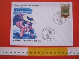 A.02 ITALIA ANNULLO - 1998 MASSAZZA BIELLA RISO INCONTRO SAGRA RIS BIELEIS BIELLESE SOLE SPIGA - Agriculture