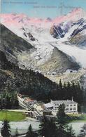 MORTERATSCH  → Hotel Pension Morteratsch Mit Wartendem Zug Und Touristen Anno 1922 - GR Grisons