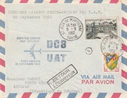*** Lettre Premiere Liaison  *** Aérienne France  PARIS ABIDJAN  En DC8 1960 - Poste Aérienne