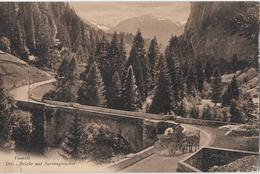 VIA - MALA → Postkutsche Bergwärts Bei Der Dritten Brücke, Kupferdruck Ca.1920 - GR Grisons