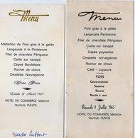VP13.594 - 1969 - Menu - Hotel Du Commerce MIREPOIX Traiteur , PUNTIS - Menus