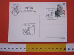 A.02 ITALIA ANNULLO - 1998 CASAPINTA BIELLA MOSTRA ANA GRUPPO A.N.A. TRUPPE ALPINE ALPINO MONUMENTO SCULTURA - Militaria