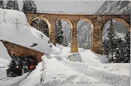 ALBULA - BAHN → Dampfzug Beim Tunnel Von Preda Anno 1910 - GR Grisons