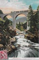 ALBULA - BAHN → Dampfzug Auf Dem 1.Viadukt Unterhalb Preda Anno 1904 - GR Grisons