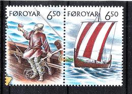Faroer  -  2002. Vikinghi E Loro Nave. Vikings And Their Ship. MNH - Storia