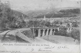 ALBULA - BAHN → Eisenbahnbrücke über Den Rhein Bei Thusis Anno 1903 - GR Grisons
