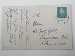 1930 , RHEINGONHEIM  R , Seltener Reservestempel Auf Karte - Deutschland