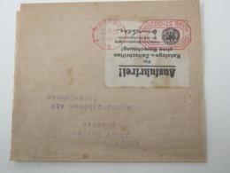 1923 , PÖSSNECK , Postfreistempel 120  Auf Streifband  In Die CSSR - Briefe U. Dokumente