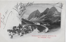 WEISSENSTEIN - ALBULA → Albula-Postkutsche Mit Vielen Anderen Kutschen Anno 1901 - GR Grisons
