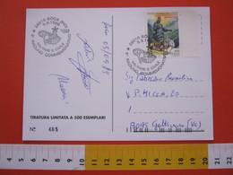 A.02 ITALIA ANNULLO - 1999 BOCA NOVARA SANTUARIO SS CROCIFISSO RADUNO MILITARE E CIVILE COMMEMORATIVO - Militaria