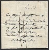 1793  - LAC 52 TOUL A CHATEAUDUN 19mm X 9mm - Marcophilie (Lettres)