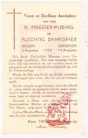 Devotie - Priesterwijding EH Aster Missiaen - Pater Theodorik / Izegem Eernegem 1956 - Images Religieuses
