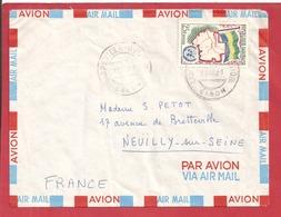 Y&T N°151  LIBREVILLE      Vers  FRANCE 1961 - Gabon
