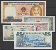 VIETNAM  1980 / 1991  - 5  BANKNOTE X3 (=15)    AU   Réf 80/91 - Viêt-Nam