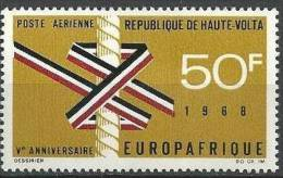 "Hte-Volta Aerien YT 53 (PA) "" EUROPAFRIQUE "" 1968 Neuf** - Haute-Volta (1958-1984)"