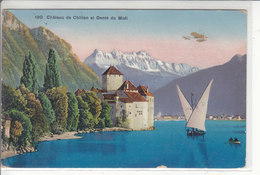 CHATEAU DE CHILLON  ET DENT DU MIDI - AVION ET BARQUES - 28.07.13 - VD Waadt