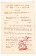 Devotie - Priesterwijding EH Albert De Cat / Brugge Elverdinge 1943 Ieper - Images Religieuses