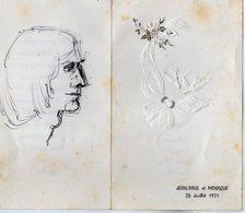 VP13.601 - 1971 - Menu - Jean -Paul Et Monique - Menus