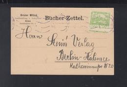 Tschechoslowakei PK 1918 Brünn Nach Berlin - Cecoslovacchia