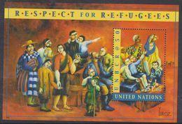 Nations Unies New-York BF N° 21 XX  Cinquantenaire Du Haut Commissariat Aux Réfugiés , Le Bloc Sans Charnière, TB - New York -  VN Hauptquartier