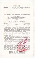 Devotie - Priesterwijding EH Joris DeKeirel / Reninge Scheut 1956 - Images Religieuses