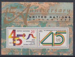 Nations Unies New-York BF N° 11 XX  45 ème Anniversaire De L' O. N. U. , Le Bloc Sans Charnière, TB - Ungebraucht