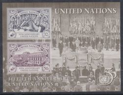 Nations Unies New-York BF N° 12 XX  50 ème Anniversaire De L' O. N. U. , Le Bloc Sans Charnière, TB - New York -  VN Hauptquartier