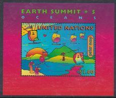 Nations Unies New-York BF N° 14 XX  Sommet Planète Terre, Le Bloc Sans Charnière, TB - New York -  VN Hauptquartier