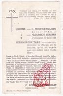Devotie - Priesterwijding EH Boudewijn Verhelst / Veldegem Scheut 1944 / Zedelgem - Images Religieuses